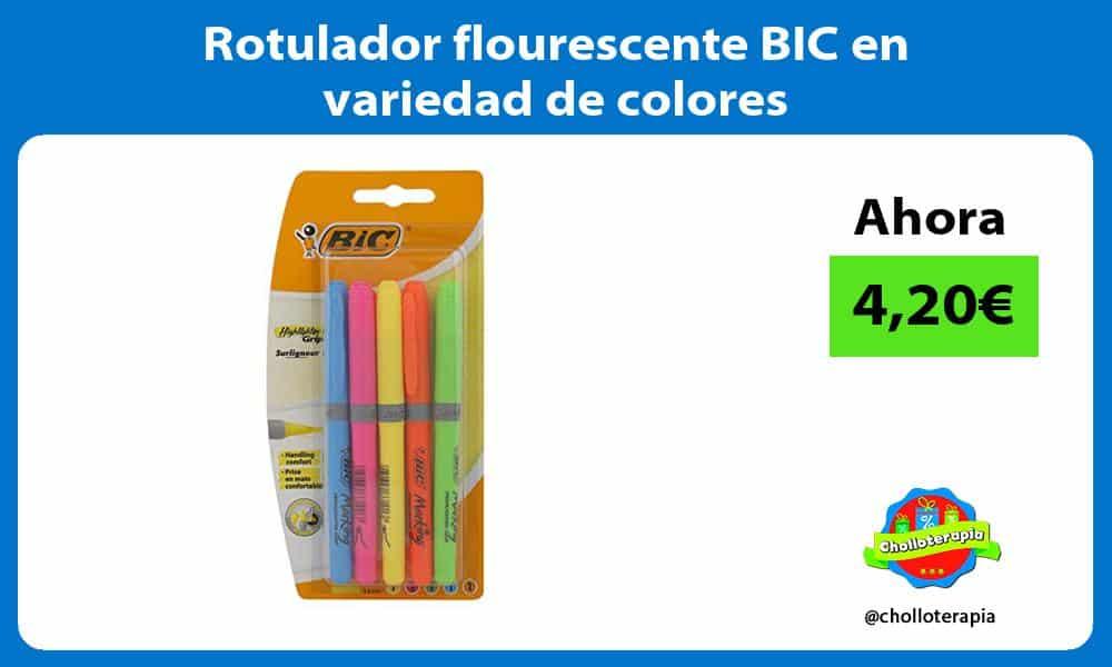 Rotulador flourescente BIC en variedad de colores