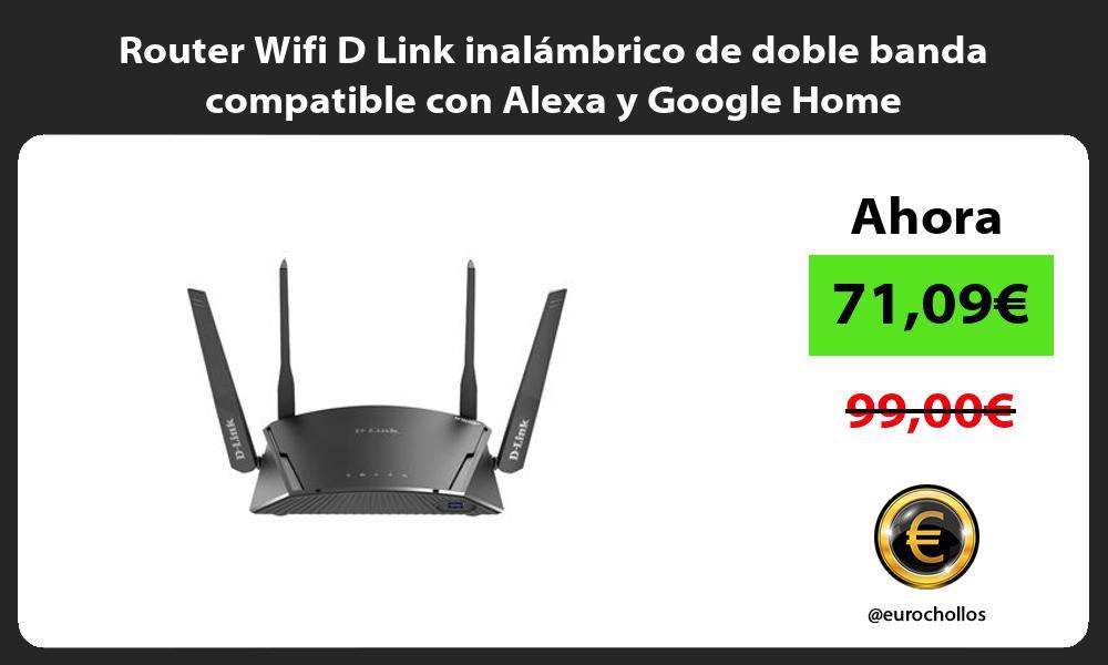 Router Wifi D Link inalámbrico de doble banda compatible con Alexa y Google Home