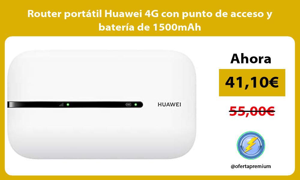 Router portatil Huawei 4G con punto de acceso y bateria de 1500mAh