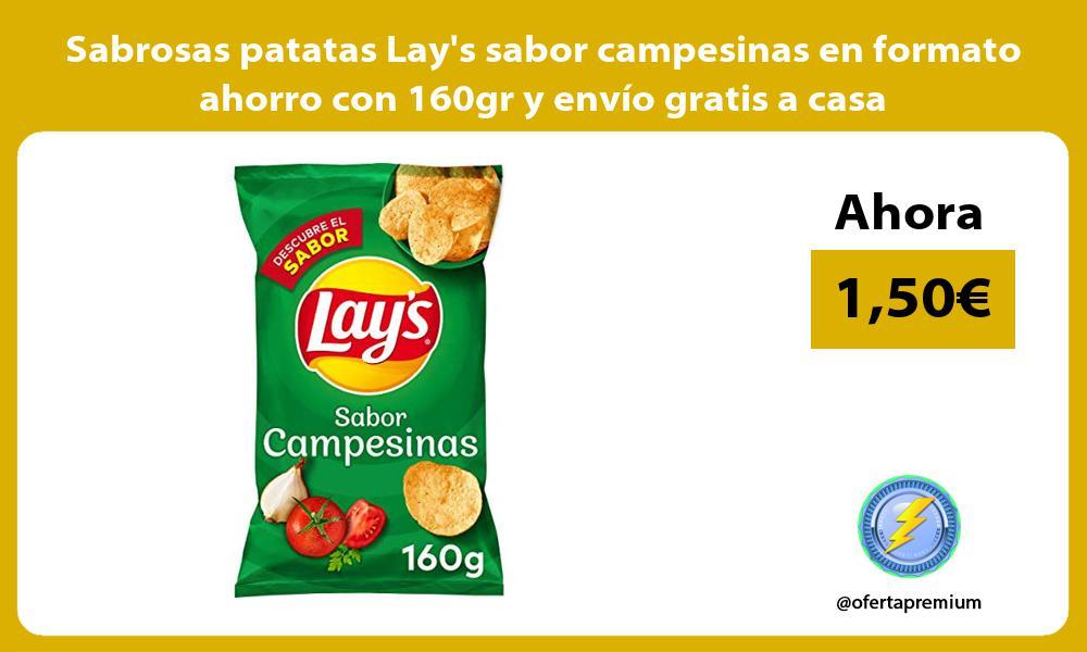 Sabrosas patatas Lays sabor campesinas en formato ahorro con 160gr y envio gratis a casa