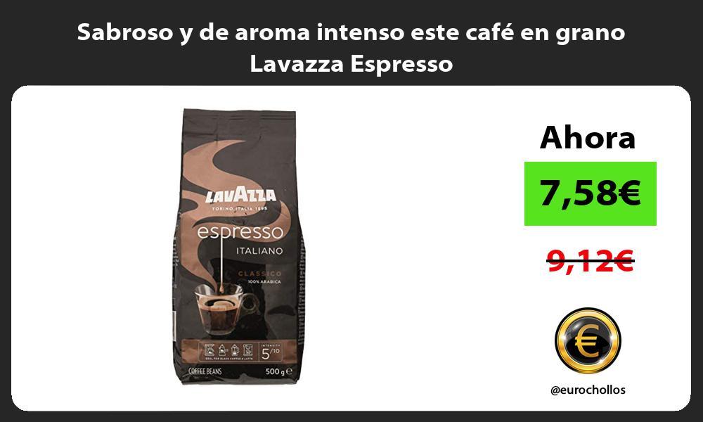 Sabroso y de aroma intenso este cafe en grano Lavazza Espresso