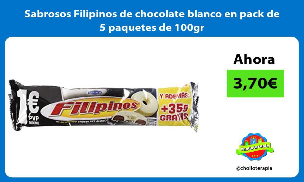 Sabrosos Filipinos de chocolate blanco en pack de 5 paquetes de 100gr