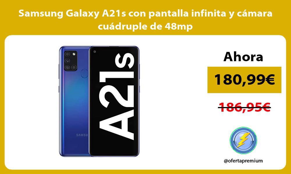 Samsung Galaxy A21s con pantalla infinita y camara cuadruple de 48mp