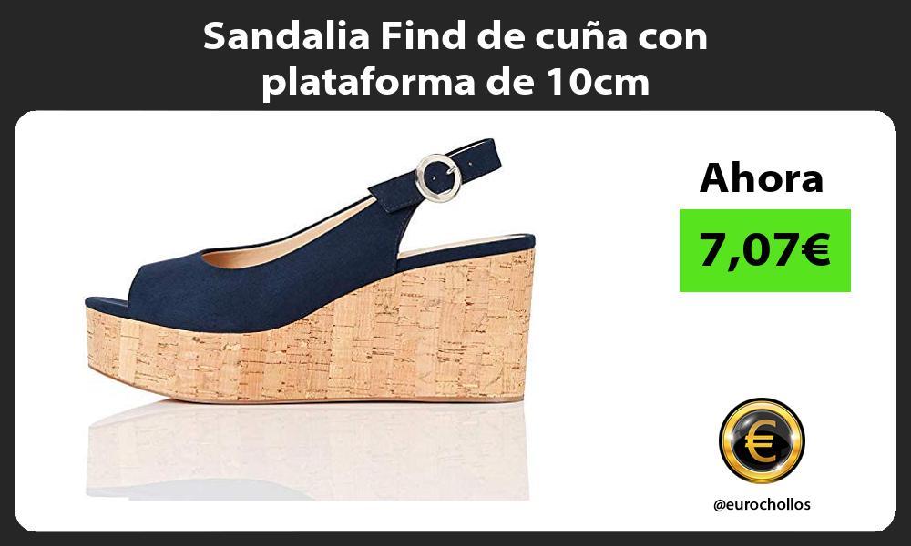 Sandalia Find de cuña con plataforma de 10cm