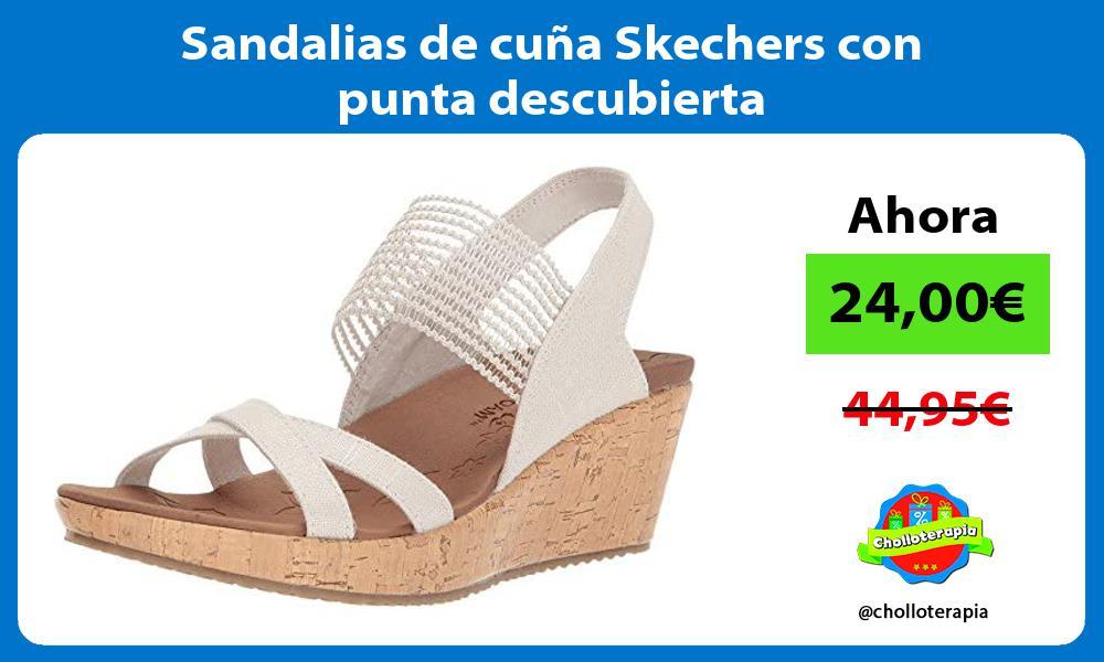 Sandalias de cuna Skechers con punta descubierta