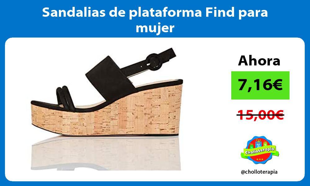 Sandalias de plataforma Find para mujer