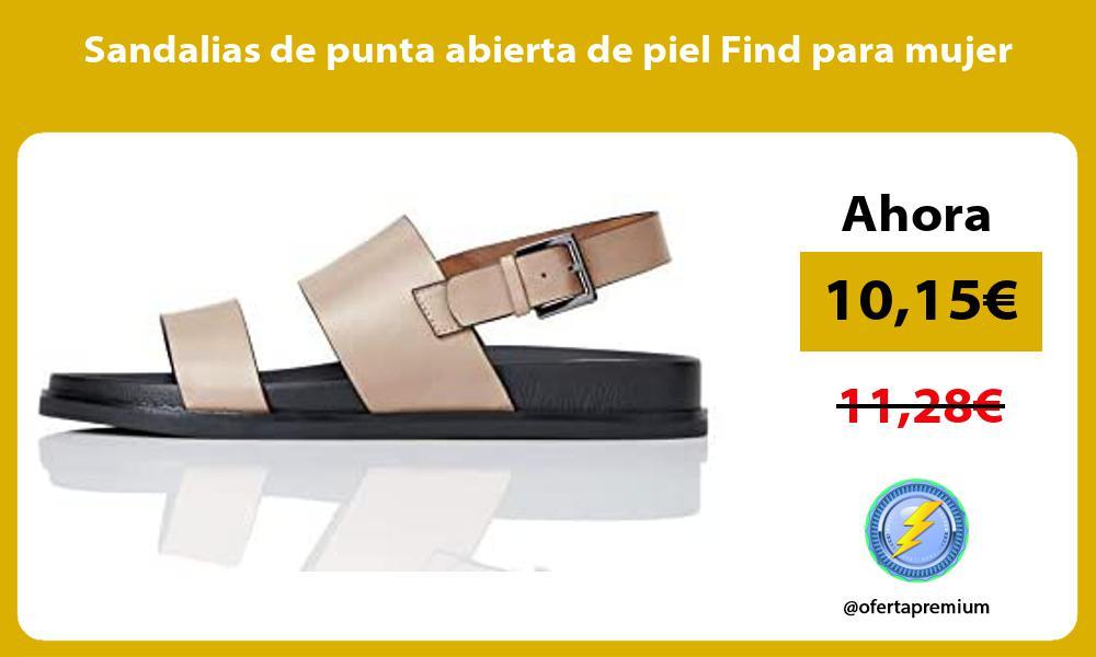 Sandalias de punta abierta de piel Find para mujer