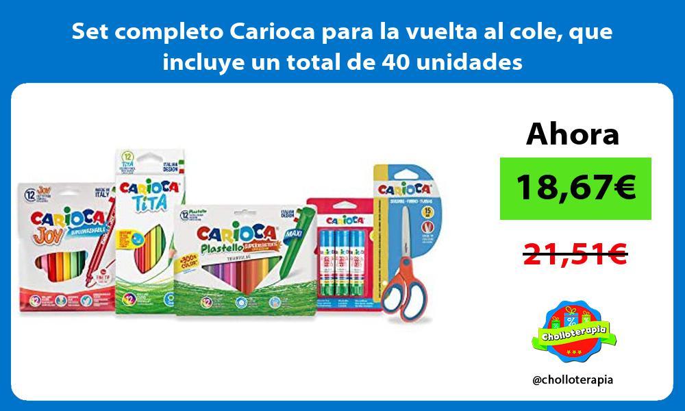 Set completo Carioca para la vuelta al cole que incluye un total de 40 unidades