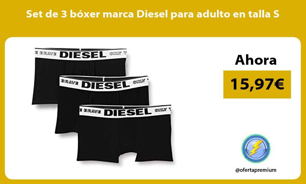 Set de 3 boxer marca Diesel para adulto en talla S