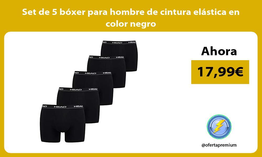 Set de 5 boxer para hombre de cintura elastica en color negro