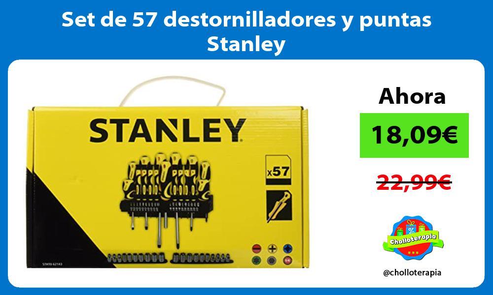 Set de 57 destornilladores y puntas Stanley