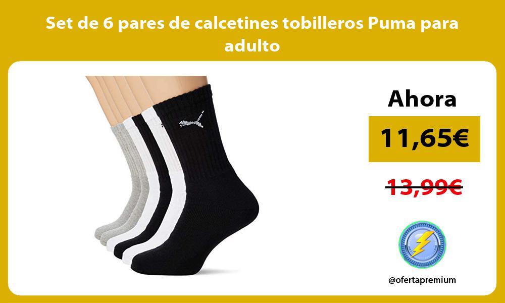 Set de 6 pares de calcetines tobilleros Puma para adulto