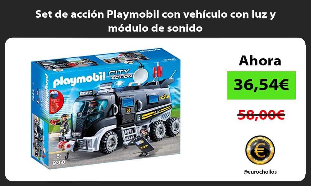 Set de acción Playmobil con vehículo con luz y módulo de sonido
