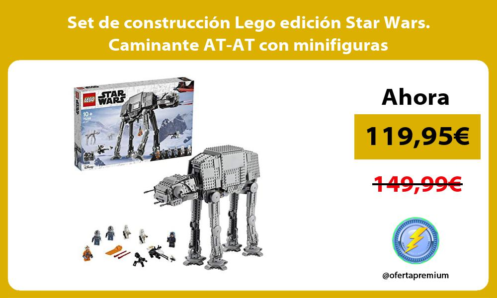 Set de construccion Lego edicion Star Wars Caminante AT AT con minifiguras