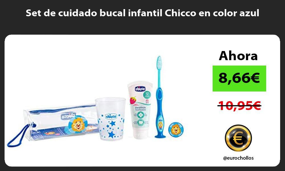 Set de cuidado bucal infantil Chicco en color azul