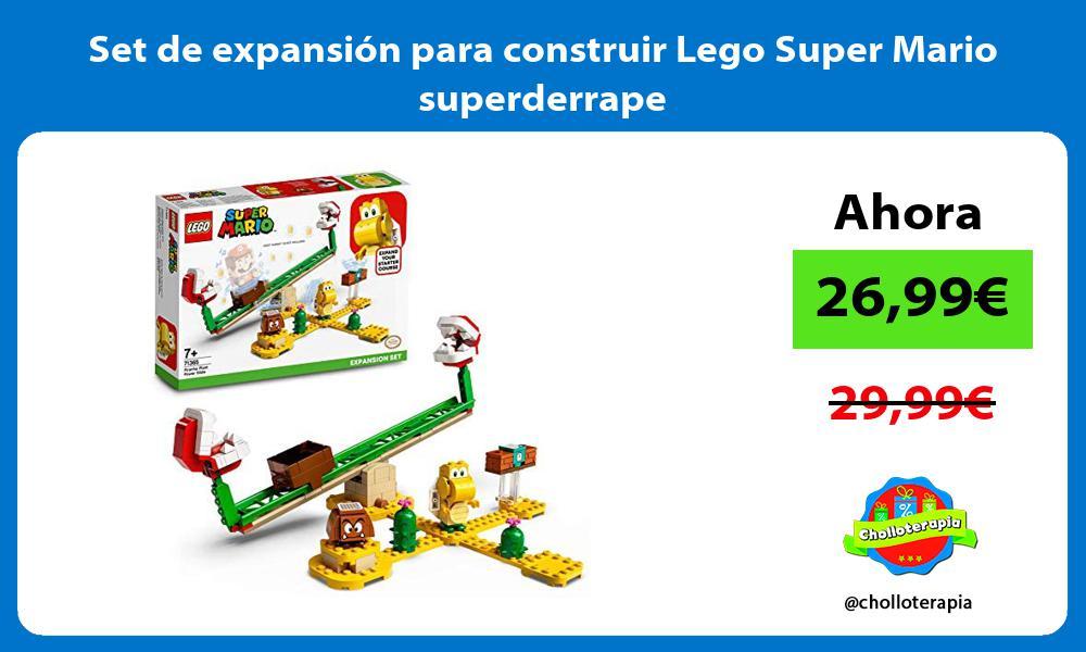 Set de expansion para construir Lego Super Mario superderrape