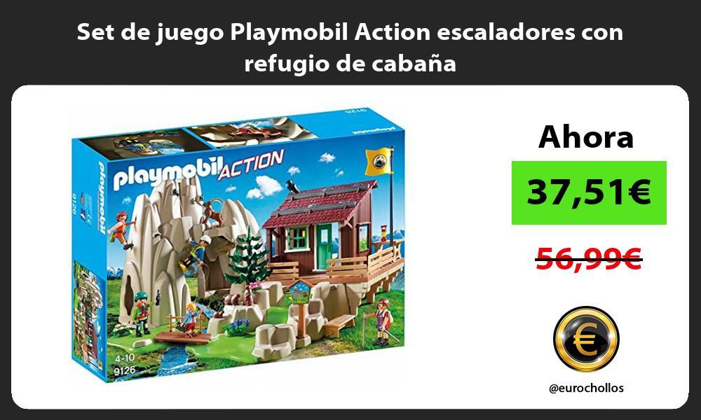 Set de juego Playmobil Action escaladores con refugio de cabana