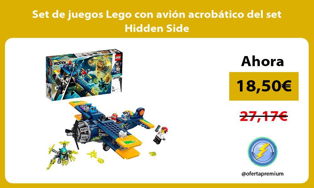 Set de juegos Lego con avion acrobatico del set Hidden Side