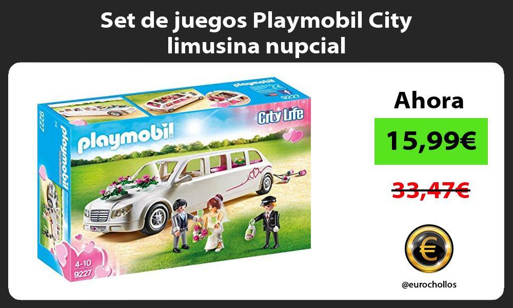 Set de juegos Playmobil City limusina nupcial