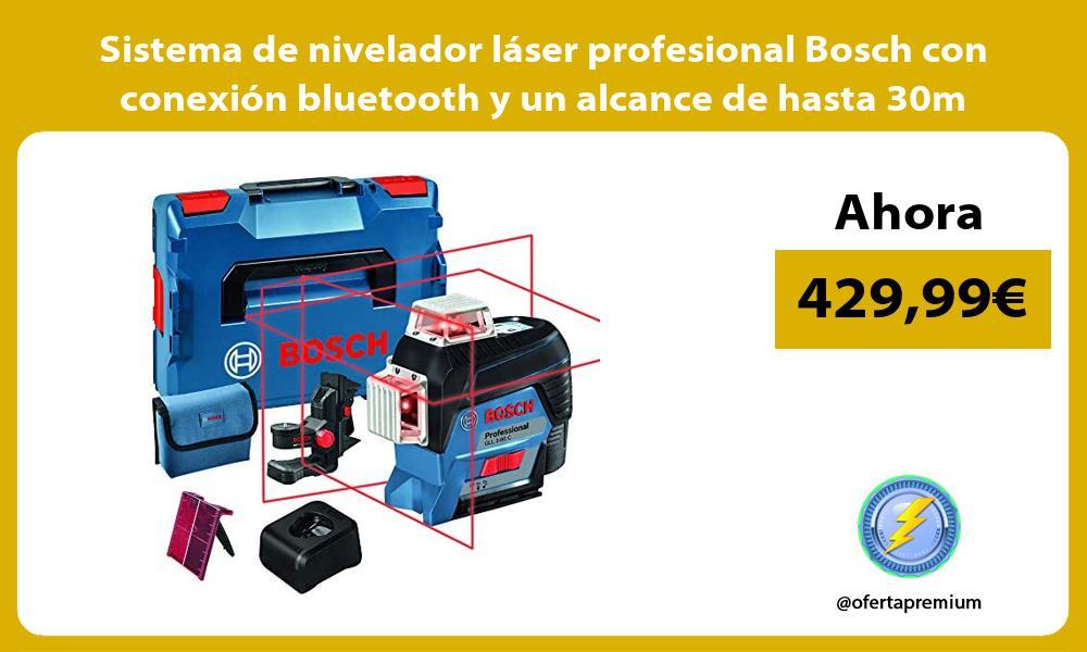 Sistema de nivelador láser profesional Bosch con conexión bluetooth y un alcance de hasta 30m