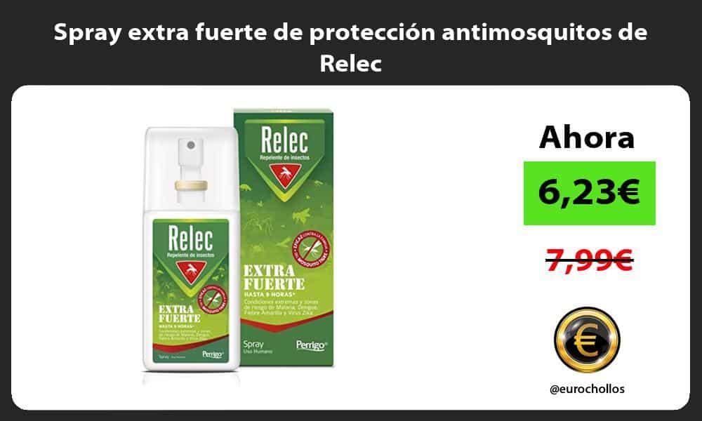 Spray extra fuerte de protección antimosquitos de Relec