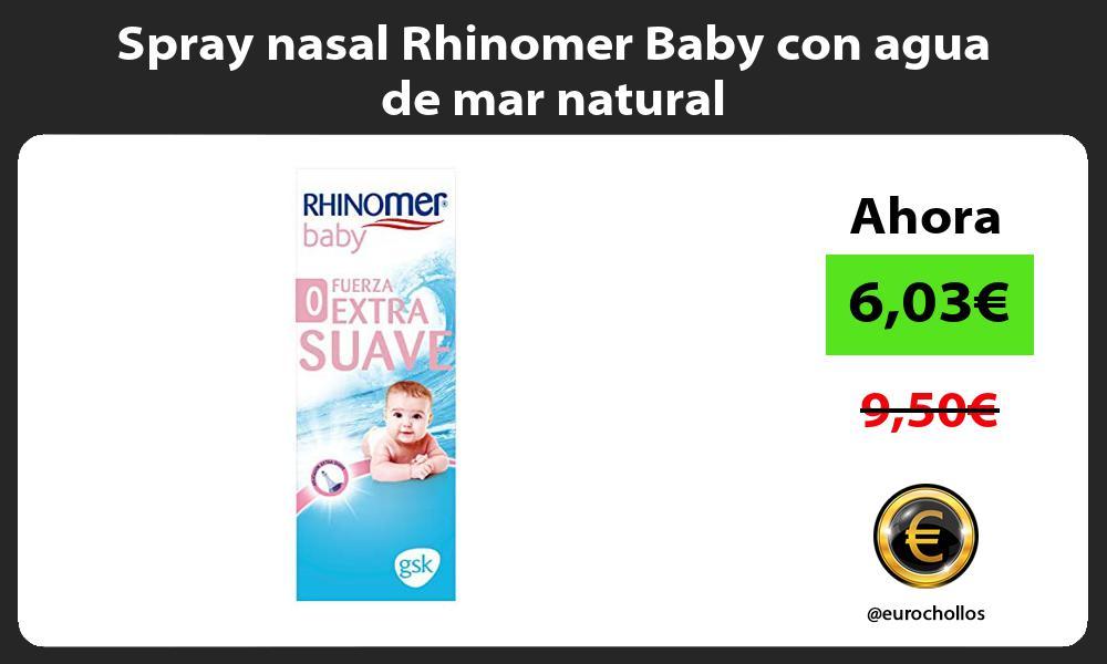 Spray nasal Rhinomer Baby con agua de mar natural