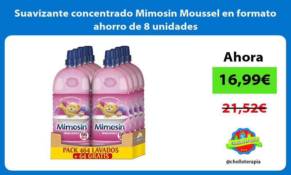 Suavizante concentrado Mimosin Moussel en formato ahorro de 8 unidades