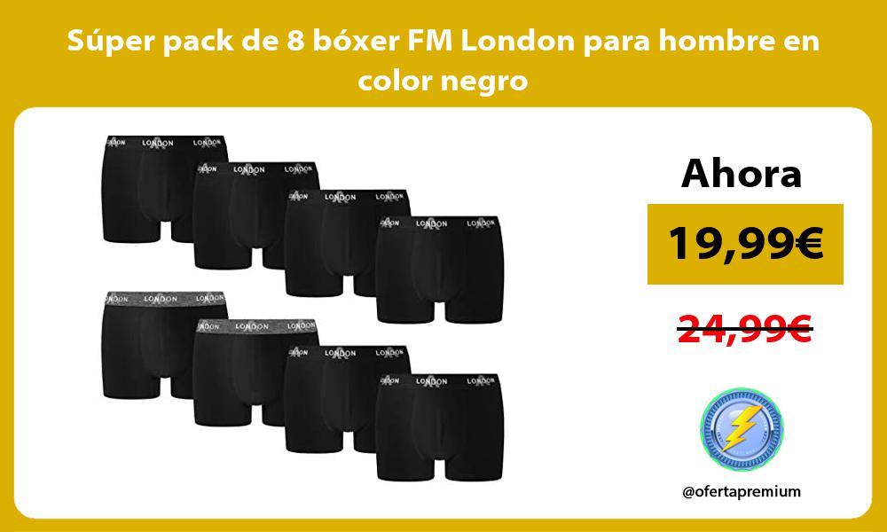 Super pack de 8 boxer FM London para hombre en color negro