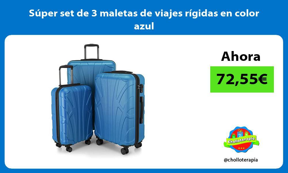 Super set de 3 maletas de viajes rigidas en color azul