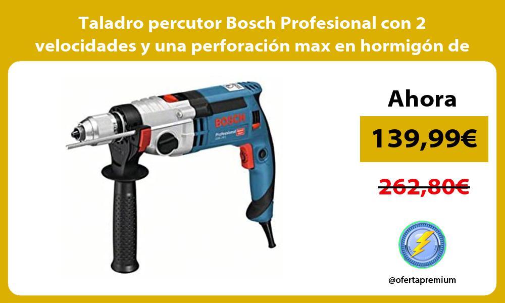 Taladro percutor Bosch Profesional con 2 velocidades y una perforacion max en hormigon de 22mm