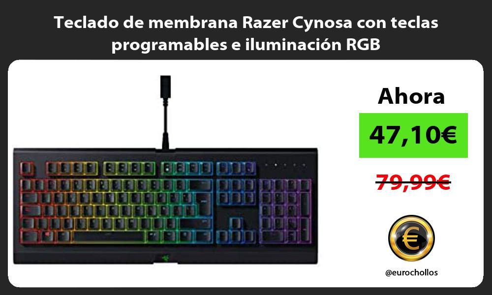 Teclado de membrana Razer Cynosa con teclas programables e iluminación RGB