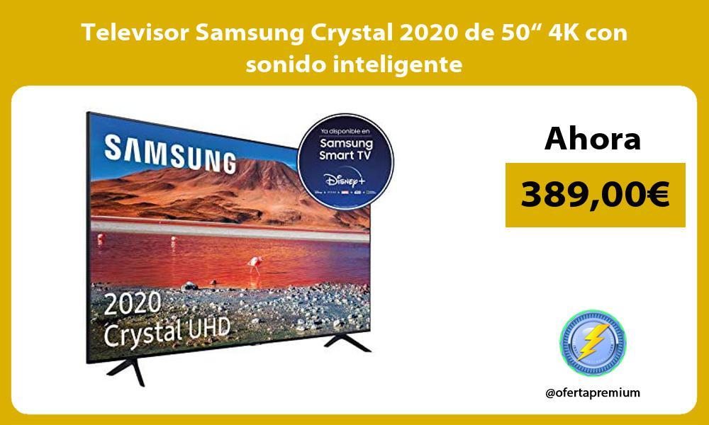 """Televisor Samsung Crystal 2020 de 50"""" 4K con sonido inteligente"""