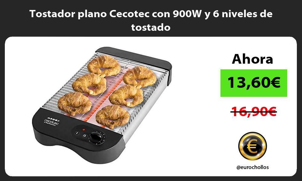 Tostador plano Cecotec con 900W y 6 niveles de tostado
