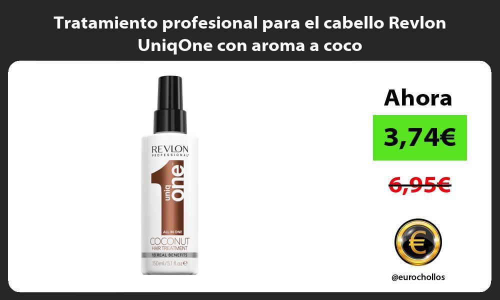 Tratamiento profesional para el cabello Revlon UniqOne con aroma a coco