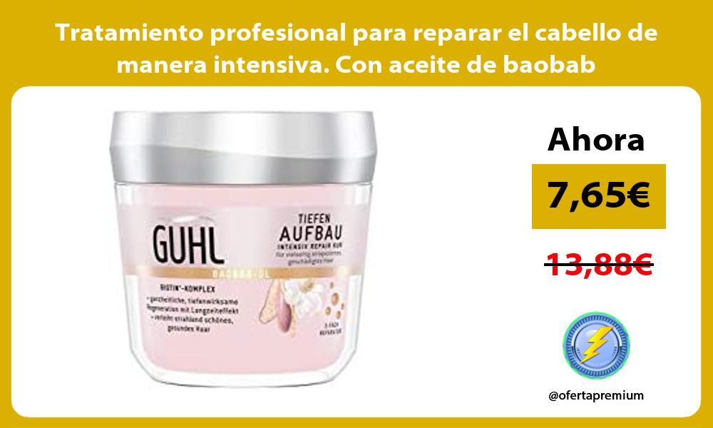 Tratamiento profesional para reparar el cabello de manera intensiva Con aceite de baobab