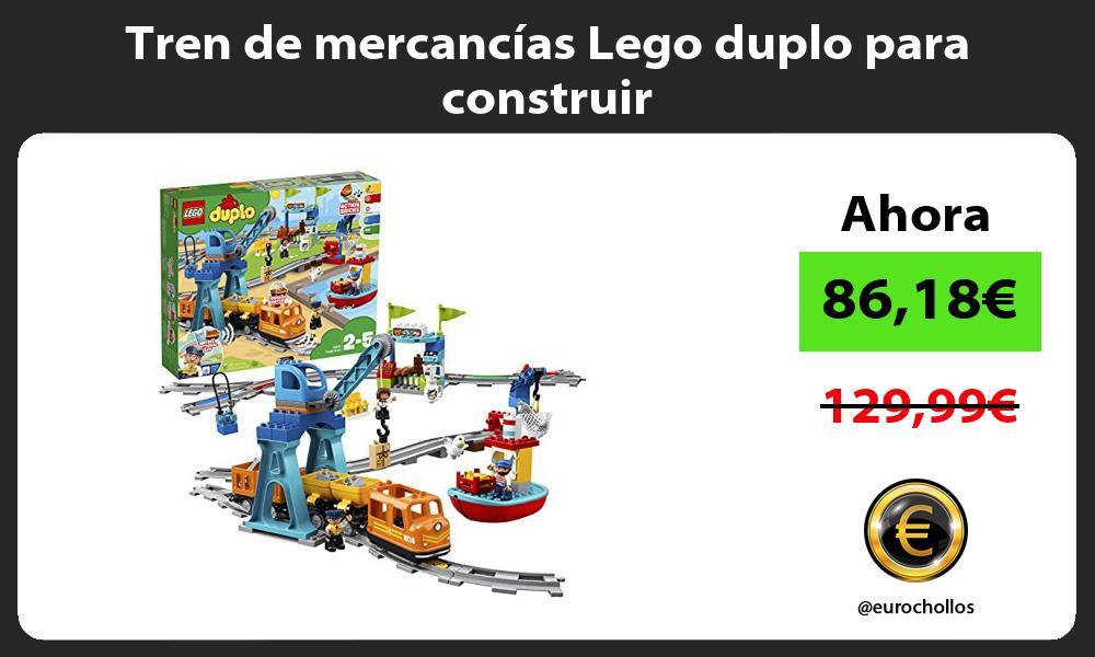 Tren de mercancías Lego duplo para construir