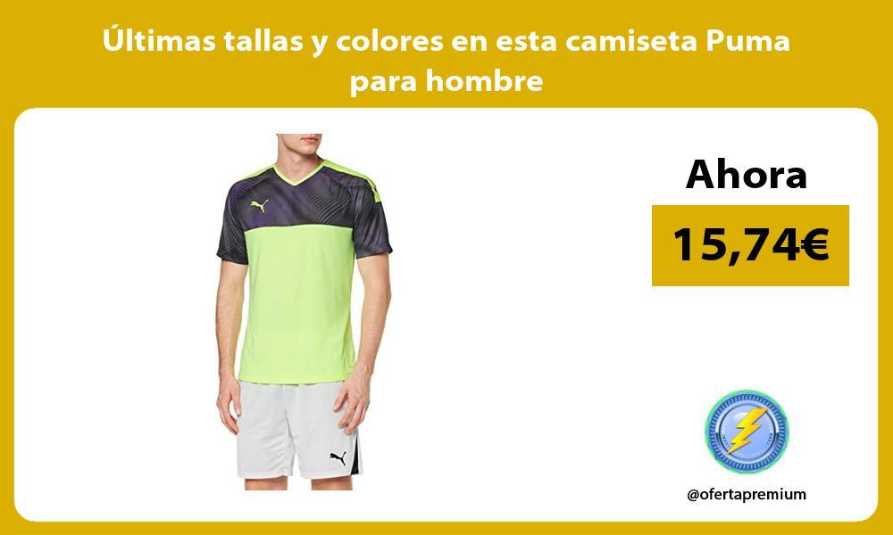 Ultimas tallas y colores en esta camiseta Puma para hombre