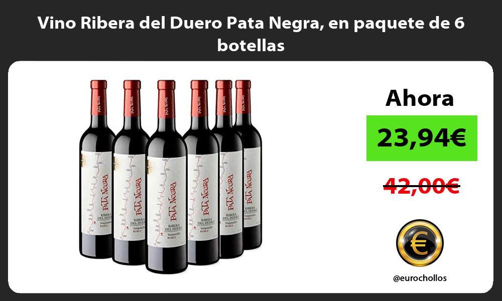Vino Ribera del Duero Pata Negra en paquete de 6 botellas