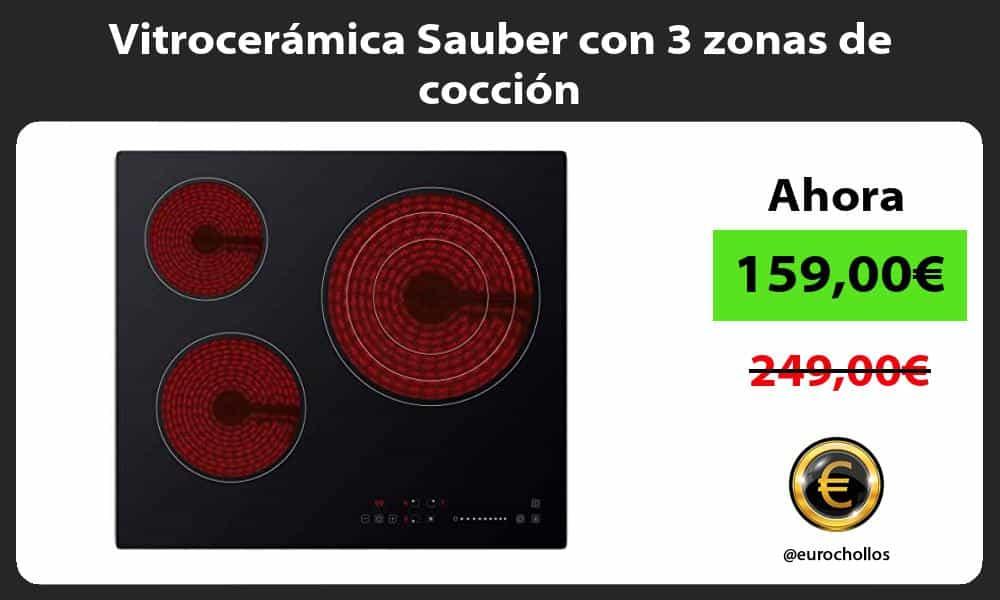 Vitrocerámica Sauber con 3 zonas de cocción