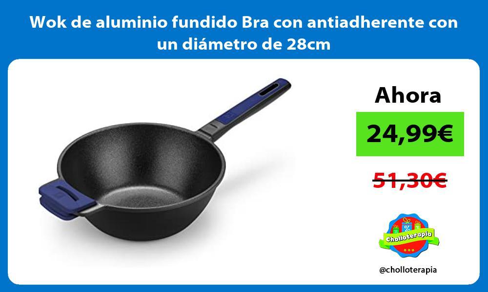 Wok de aluminio fundido Bra con antiadherente con un diámetro de 28cm