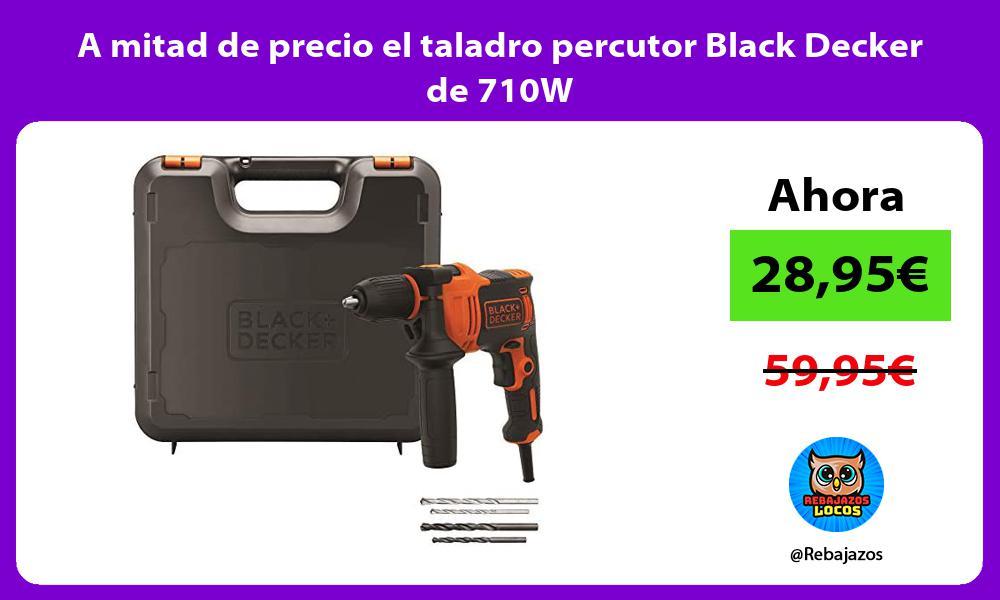 A mitad de precio el taladro percutor Black Decker de 710W