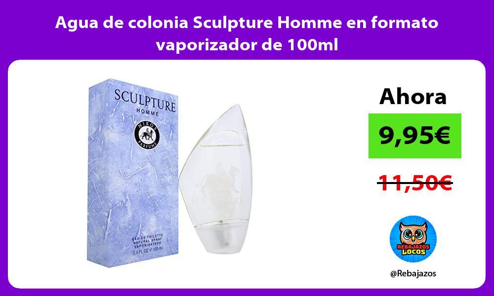 Agua de colonia Sculpture Homme en formato vaporizador de 100ml