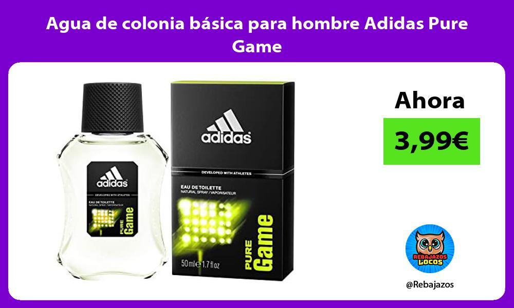 Agua de colonia basica para hombre Adidas Pure Game