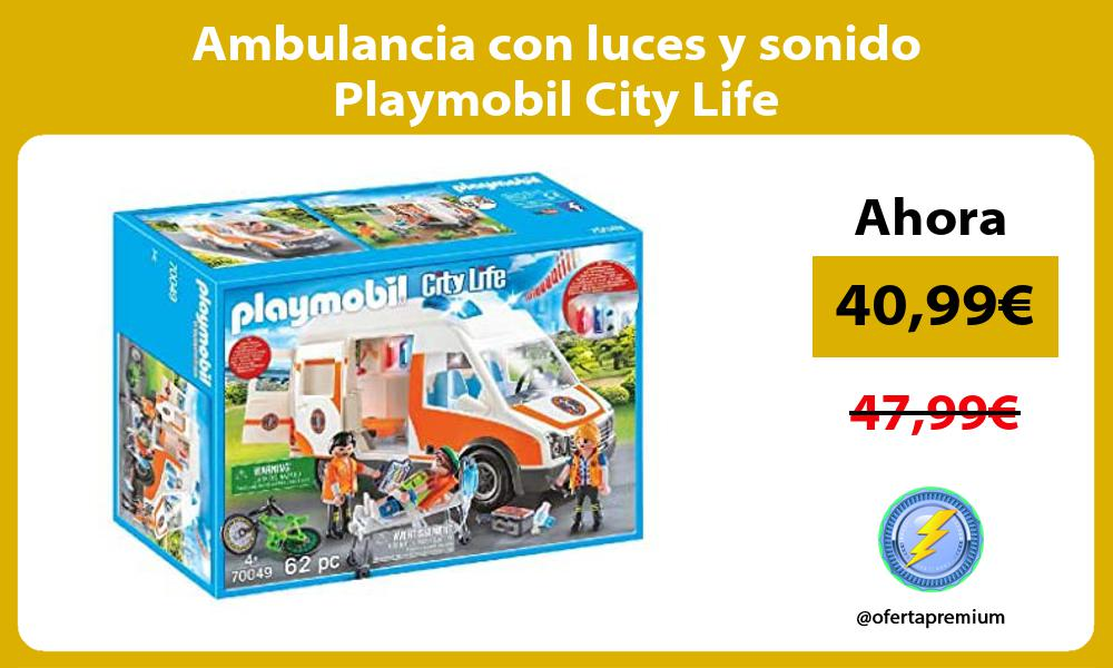Ambulancia con luces y sonido Playmobil City Life