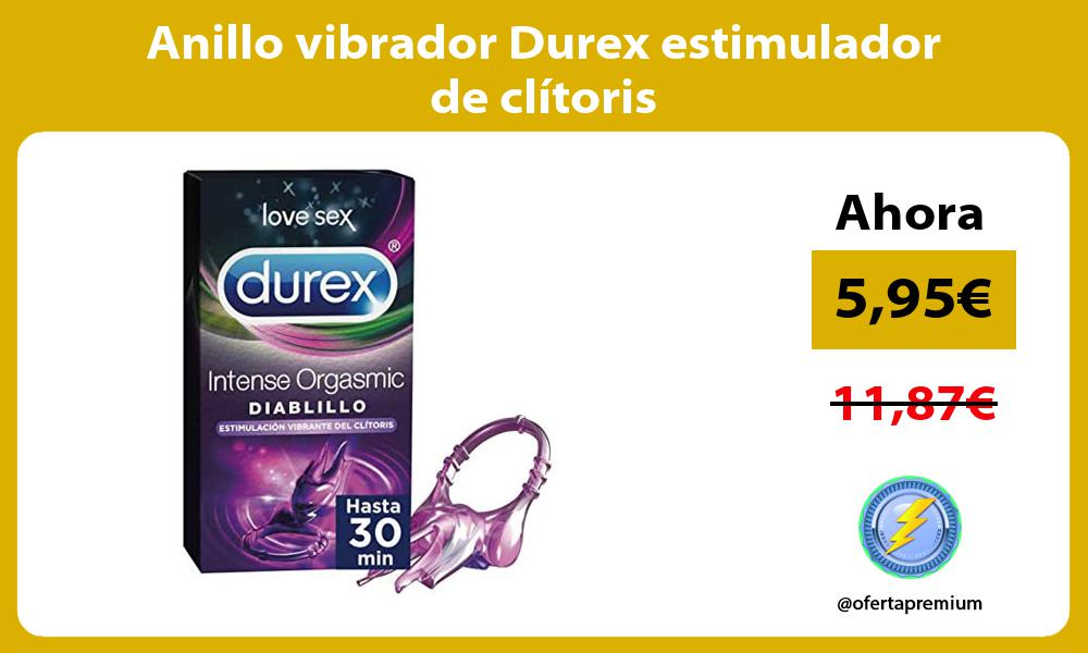Anillo vibrador Durex estimulador de clitoris