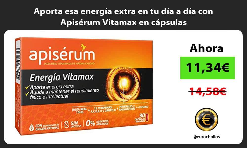 Aporta esa energia extra en tu dia a dia con Apiserum Vitamax en capsulas