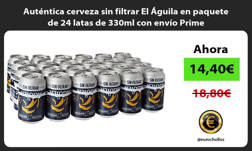 Autentica cerveza sin filtrar El Aguila en paquete de 24 latas de 330ml con envio Prime