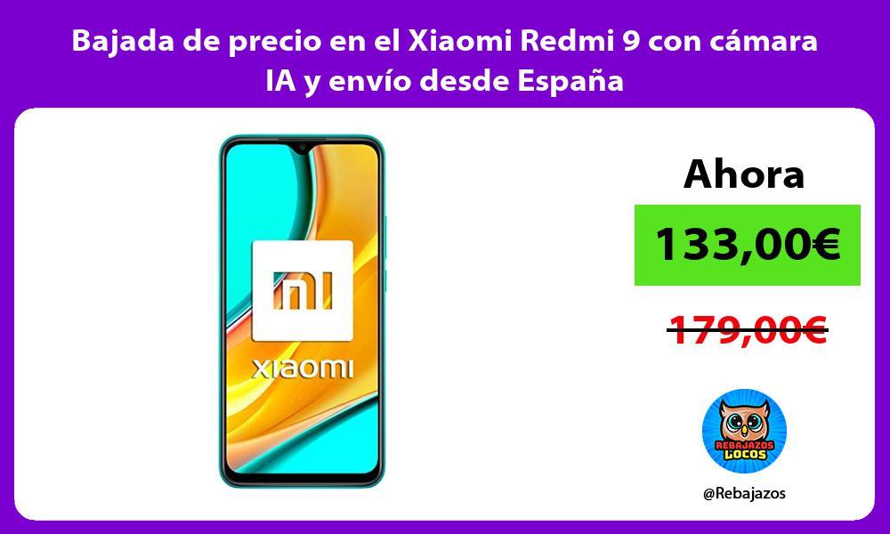 Bajada de precio en el Xiaomi Redmi 9 con camara IA y envio desde Espana