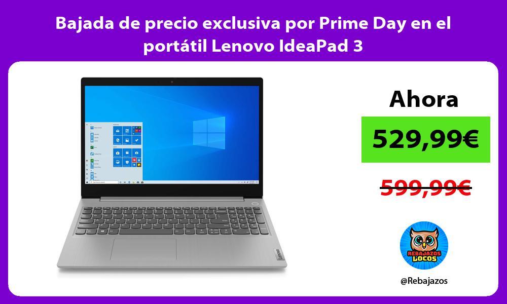 Bajada de precio exclusiva por Prime Day en el portatil Lenovo IdeaPad 3