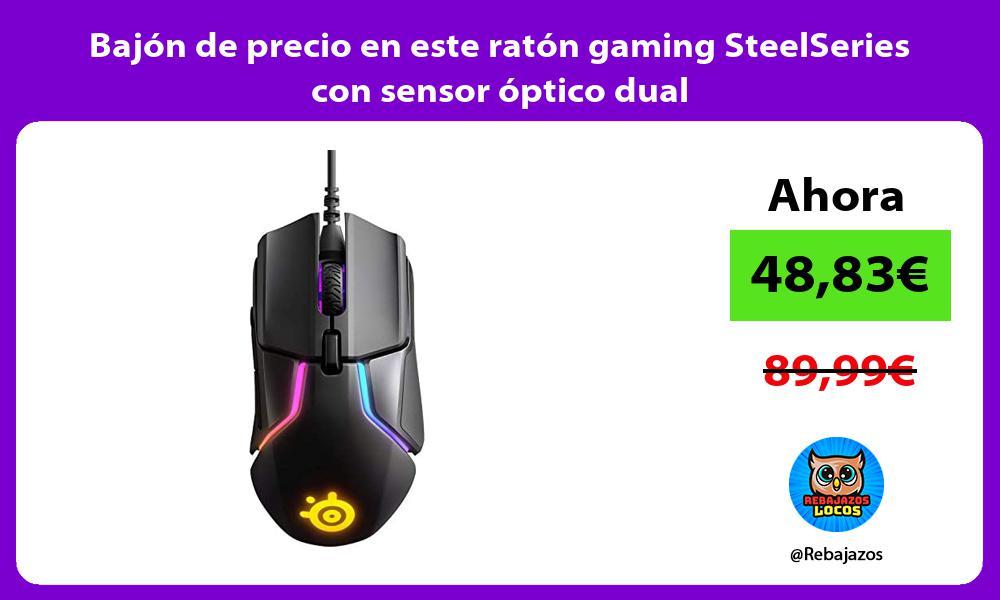 Bajon de precio en este raton gaming SteelSeries con sensor optico dual